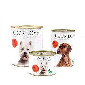 Dog´s Love Classic Rind, Hundefutter mit Apfel, Spinat und Zucchini