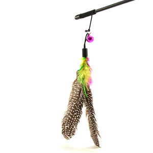 Federangel, Spielangel für Katzen mit extra langen Federn