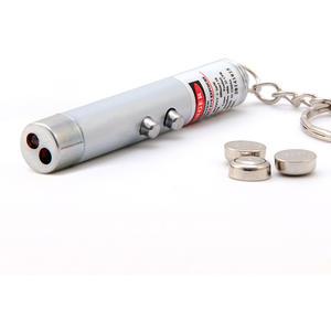 LED Laserpointer 2in1 mit Taschenlampe, rot 1mW, Katzenspielzeug inkl. Batterien