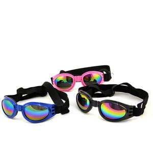 Sonnenbrille aus Kunststoff für Hunde, Gläser regenbogen verspiegelt