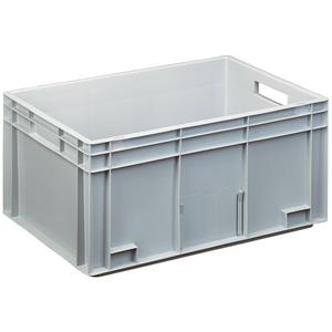 Transportstapelkasten Newbox NB55V1 600x400x280mm grau Durchfassgriffe