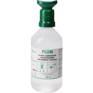 Augenspülflasche 500 ml Plum mit Augenschale und Staubkappe