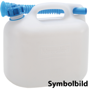 Wasserkanister ECO 12L mit Rohr,HD-PE natur,mit Zubehör