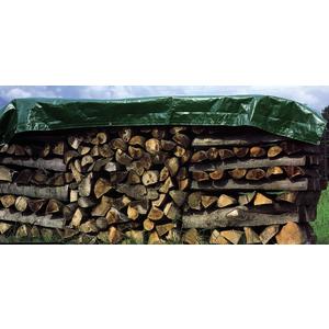 Holz-Abdeckplane 12 x 1,5 m grün ca. 90 g/m2