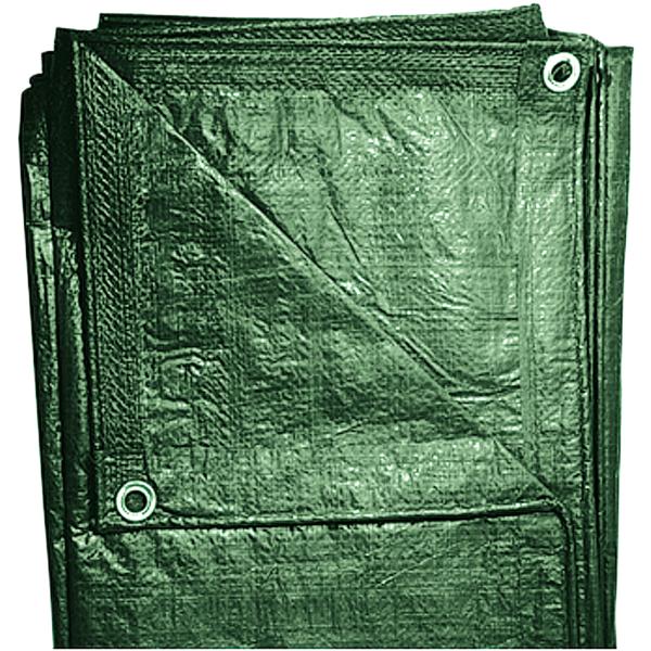 Gewebeplane 5 x 6 m grün mit Alu-Ösen und Randverstärkung, ca. 100 g/m2
