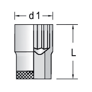 """Steckschlüssel-Einsatz 1/2""""17mm 6kt Format 61110170"""
