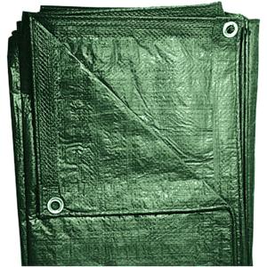 Gewebeplane 2 x 3 m grün mit Alu-Ösen und Randverstärkung, ca. 100 g/m2
