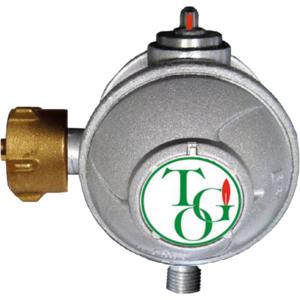 TGO Gasregler 2-stufig 1,5 kg/h 50mbar mit Kontrollanzeige, f.Gewerbe/Industrie