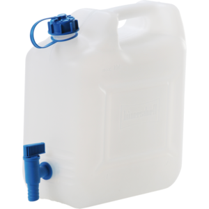 Wasserkanister ECO 22L mit Hahn,HD-PE natur,mit fest montiertem Ablasshahn