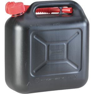 Benzinkanister 10L Kunststoff schwarz UN genehmigt