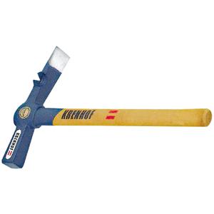 Maurerhammer Ital.Form mit Stiel und Nagelzieher 878S05
