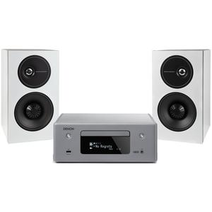 Denon RCD-N10 + DEMAND 7 Set Grau/Weiß