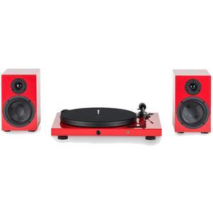 Pro-Ject Juke Box E SB4 HiFi Set Rot