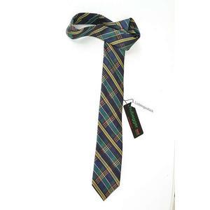 Hubegger Trachtenkrawatte Trachten Krawatte aus Seide Made in Austria grün blau gold Muster Trachtenhochzeit Oktoberfest Anzug