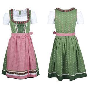 Dirndl Trachtendirndl Trachtenkleid 3-teilig mit Schürze und Bluse Gr. 36 Kleid Damen Oktoberfest