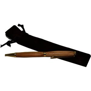 Holz Kugelschreiber Edelkastanie Handarbeit Kugel Schreiber Tintenfarbe schwarz Drehkugelschreiber Schreiber Schreibwaren Stift Geschenk Geschenkidee