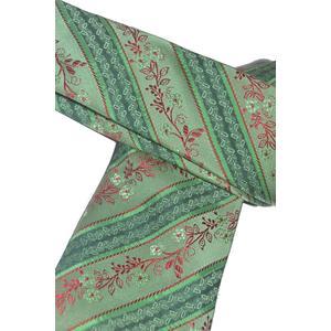 Trachtenkrawatte Trachten Krawatte aus Seide Made in Austria grün mit rotem Paisley Muster Trachtenhochzeit Oktoberfest Anzug Hochzeit