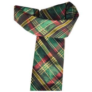Hubegger Trachtenkrawatte Trachten Krawatte aus Seide Made in Austria rot grün gold Muster Trachtenhochzeit Oktoberfest Anzug