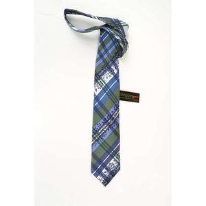 Trachtenkrawatte Trachten Krawatte aus Seide Made in Austria blau grün weiß Muster Trachtenhochzeit Oktoberfest Anzug
