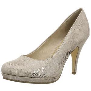 Tamaris Damen Plateau Pumps Schuhe Heels rosé metallic