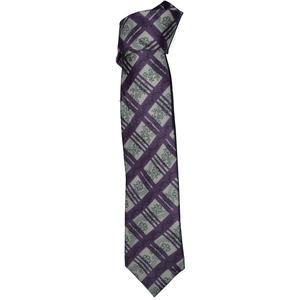 Hubegger Trachtenkrawatte Trachten Krawatte aus Seide Made in Austria violett grün weiß Muster Trachtenhochzeit Oktoberfest Anzug Hochzeit