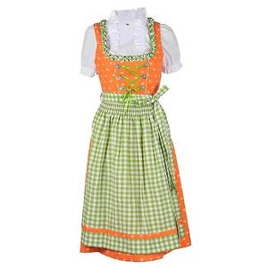 Trachten Dirndl Kleid Damen Gr. 36 orange