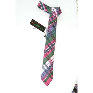 Trachtenkrawatte Trachten Krawatte aus Seide Made in Austria pink grün weiß Muster Trachtenhochzeit Oktoberfest Anzug