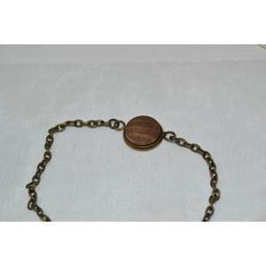 Holz Armband Kette 1,2 cm Trachtenschmuck Holzschmuck Walnuss Armschmuck Schmuck handmade Unikat Geschenk Edelstahl