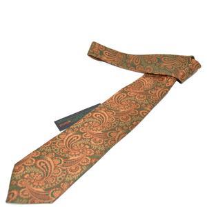 Trachtenkrawatte Trachten Krawatte aus Seide Made in Austria orange grün Muster Trachtenhochzeit Oktoberfest Anzug Hochzeit