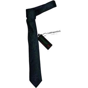 Hubegger Trachtenkrawatte Trachten Krawatte aus Seide Made in Austria dunkelblau grün Muster Trachtenhochzeit Oktoberfest Anzug Hochzeit