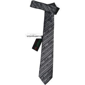 Hubegger Trachtenkrawatte Trachten Krawatte aus Seide Made in Austria grau schwarz Muster Trachtenhochzeit Oktoberfest Anzug Hochzeit