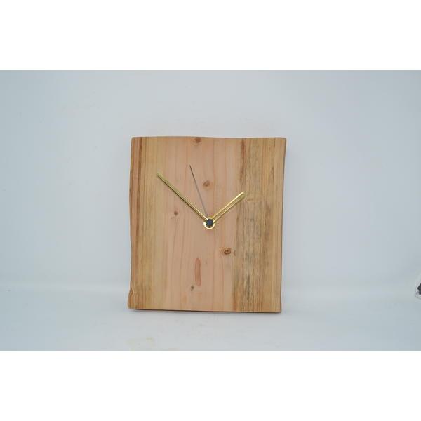 Holz Wanduhr Uhr 24x21.5 cm Atlaszeder rustikale Holzuhr Holzdekoration Holzdeko Deko Geschenk Geschenkidee handmade Made in Austria