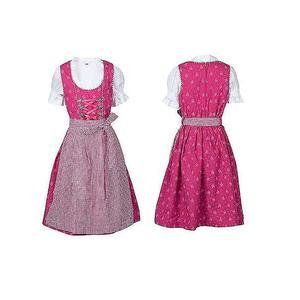 Kinder Dirndl Kleid Kinder mit Schürze und Bluse pink