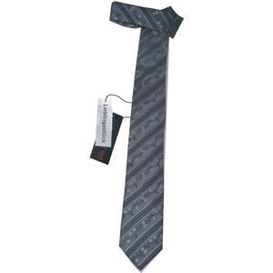 Trachtenkrawatte Trachten Krawatte aus Seide Made in Austria grau schwarz Muster Trachtenhochzeit Oktoberfest Anzug Hochzeit