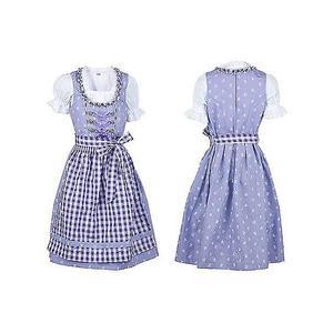 Kinder Dirndl Kleid Kinder mit Schürze und Bluse Lila violett