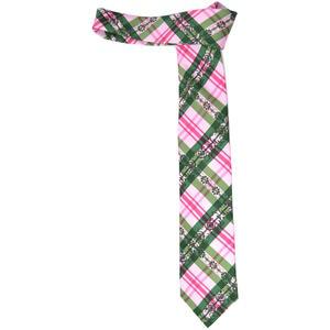 Hubegger Trachtenkrawatte Trachten Krawatte aus Seide Made in Austria rosa grün weiß Trachtenhochzeit Oktoberfest Anzug