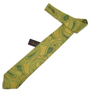Hubegger Trachtenkrawatte Trachten Krawatte aus Seide Made in Austria gelb grün Muster Trachtenhochzeit Oktoberfest Anzug Hochzet