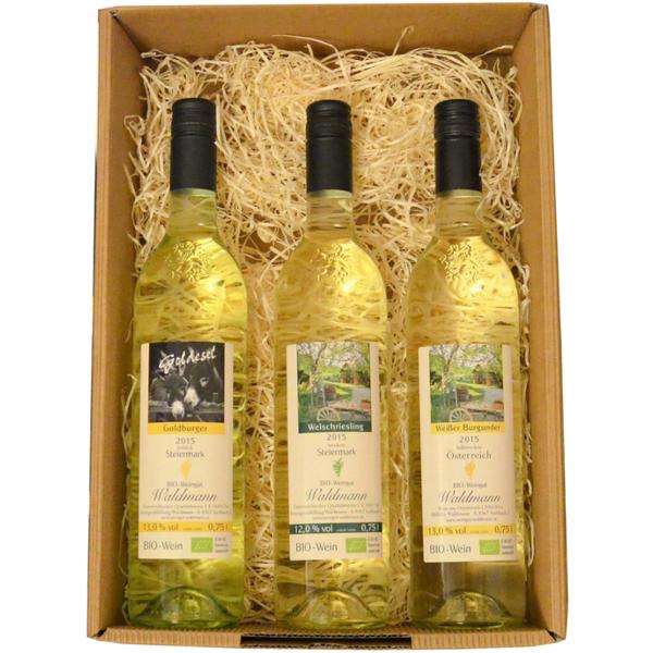 Geschenk Box BIO Weißwein,