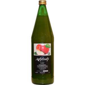 100% Apfelsaft, 1 Liter, naturtrüb, Likörmanufaktur Posch-Kindlhofer