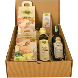 Geschenk Box, Mix Box, Nudeln, Essig, Kürbiskernöl, Knabberkerne