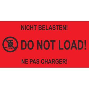 1000 Stk Hinweisetiketten rot NICHT BELASTEN! / DO NOT LOAD!, 145x76mm