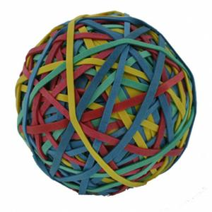 12 Stk ALCO Gummibänder Ball, Rubber Band Ball, 50mm, Inhalt 190gr., sortiert
