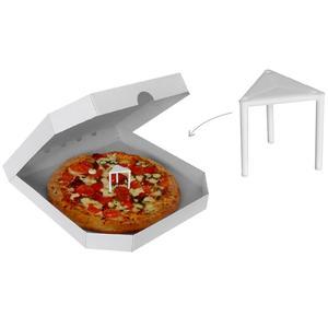 100 Stk Abstandshalter aus Kunststoff für Pizzakartons 3 cm