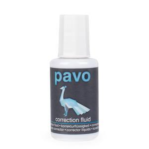 4 Stk PAVO Korrekturflüssigkeit mit Pinsel schnelltrocknend 20 ml