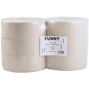 Jumbo Toilettenpapier, Jumborollen, 2-lagig, Recyclingpapier, 6 Rollen