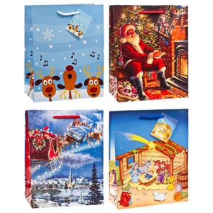 120 Stk Premium Geschenktüten Präsenttüten mittel Weihnachten 2 | 227x180x100mm