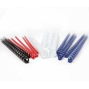 100 Stk Plastikbinderücken 10mm, bis max. 65 Blatt, Schwarz