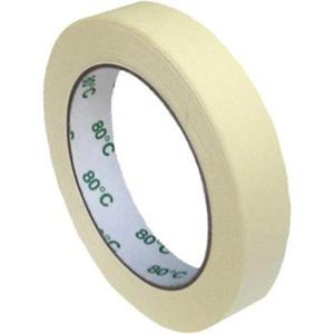 Kreppband Kreppklebeband Montageband PLUS, bis 80° C beige, 19mm x 50m