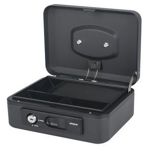 Deluxe Geldkassette mit praktischer Öffnungsfunktion 200mm, schwarz/anthrazit