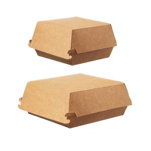 100 Stk Hamburger-Box groß, Green by Nature, 145x145x80 mm